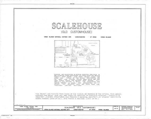 Scalemshouse, Christiansted Wharf Square vicinity, Christiansted, St. Croix, VI