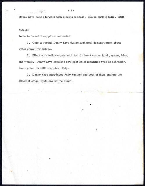 "Scenario for ""Look-Ins"" January 3, 1973"
