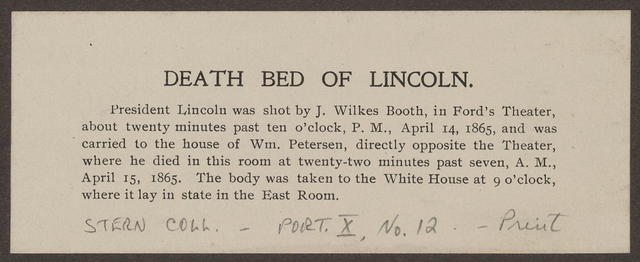 Scene at the deathbed of President Lincoln.