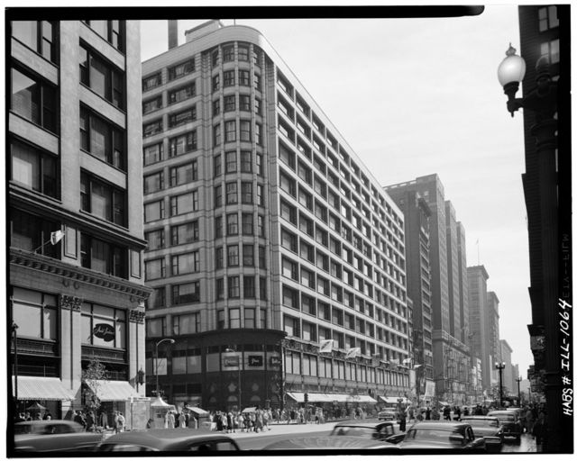 Schlesinger & Mayer Department Store, 1 South State Street (1-19 South State Street 1-15 East Madison Street), Chicago, Cook County, IL
