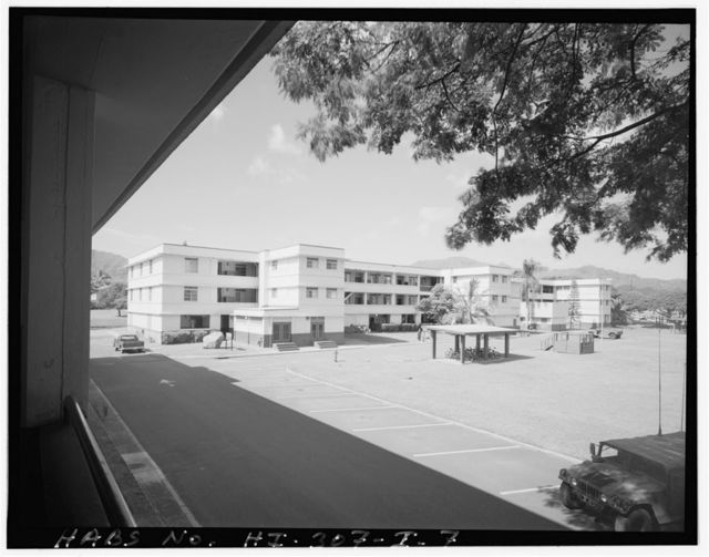 Schofield Barracks Military Reservation, Quadrangle K Barracks Type, Between Wilson Street & Capron Avenue near Williston Avenue, Wahiawa, Honolulu County, HI