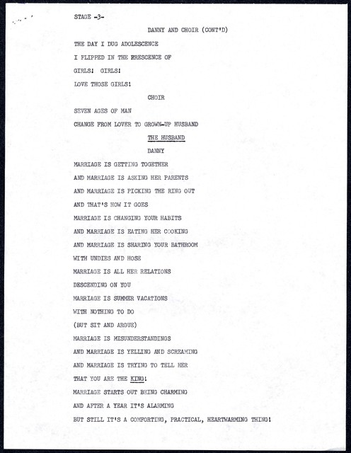 [ Script excerpts from The Danny Kaye Show at the Desert Inn, May, 1967]