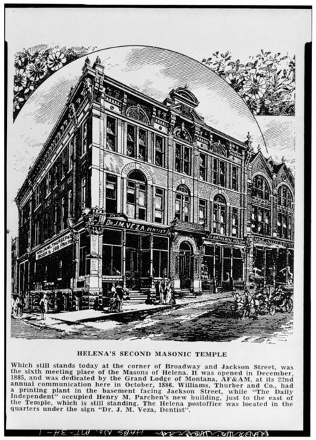 Second Masonic Temple, Broadway & Jackson Streets, Helena, Lewis and Clark County, MT