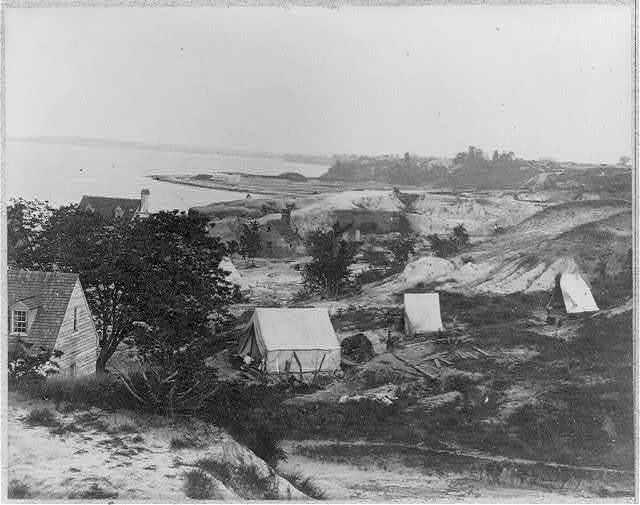 Seige of Yorktown, Va.: Confederate water batteries