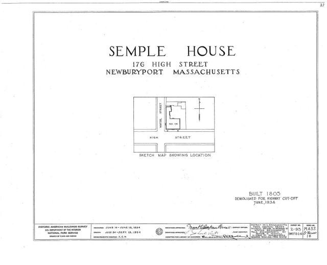 Semple House, 176 High Street, Newburyport, Essex County, MA