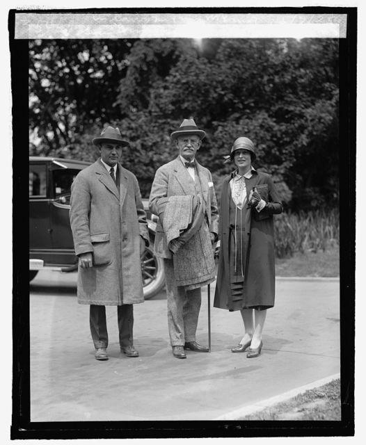 Sen. Ernst with son & daughter in law, Mr. & Mrs. W. Ernst, 5/7/25