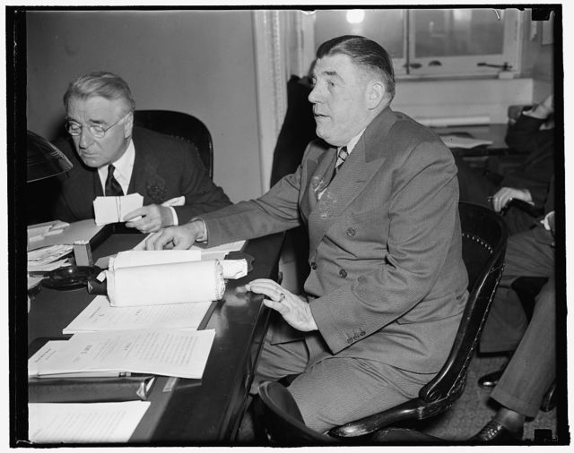 Senate Committee told communists filtering into American Merchant Marine. Washington, D.C., Feb. 9. Joseph P. Ryan, President of the International Longshoreman's Association, an A.F. of L. affiliate, today charged before the Senate Commerce Committee that there is an infiltration of Communists into American Merchant Marine. He alleged that Joseph Curran, President of the Maritime Union, a CIO affiliate, is a member of the Communist Party and is on the payroll of the organization,. 2/29/38