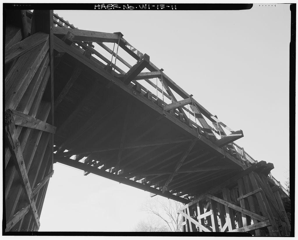 Seventh Street Bridge, Spanning Chicago, St.Paul, Minneapolis,Omaha Railroad, Hudson, St. Croix County, WI