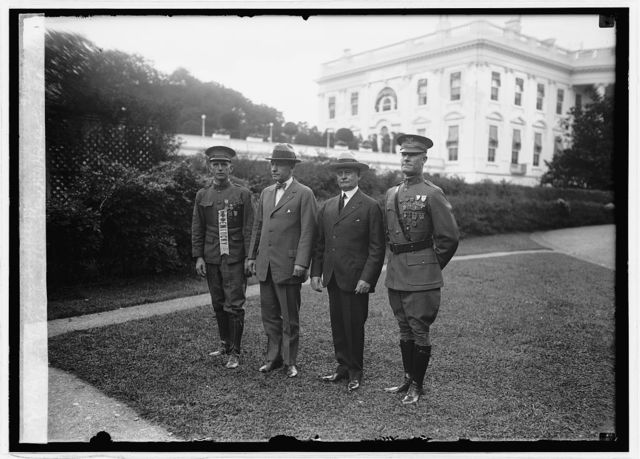 Sgt. Willie Sandlin, Gen. F.T. Hines, Gen. L.M. Brett, Sgt. Sam. Woodfill, 9/5/24