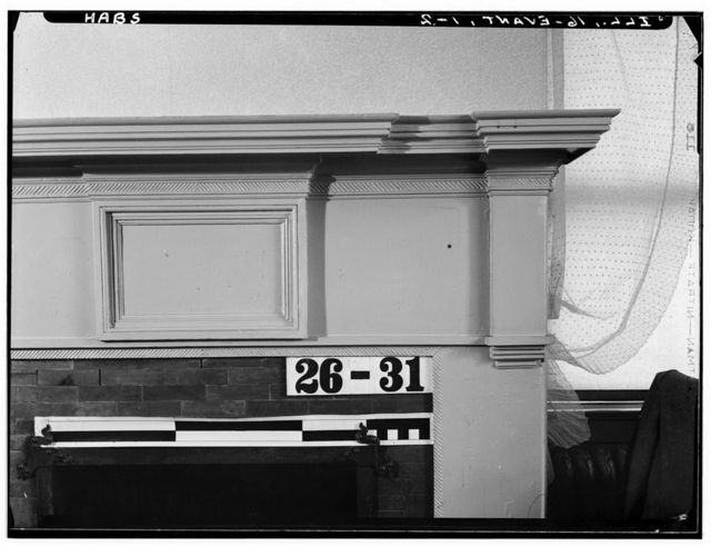 Shadrach Bond Mantel, 929 Sheridan Road (moved from Kaskaskia, IL), Evanston, Cook County, IL
