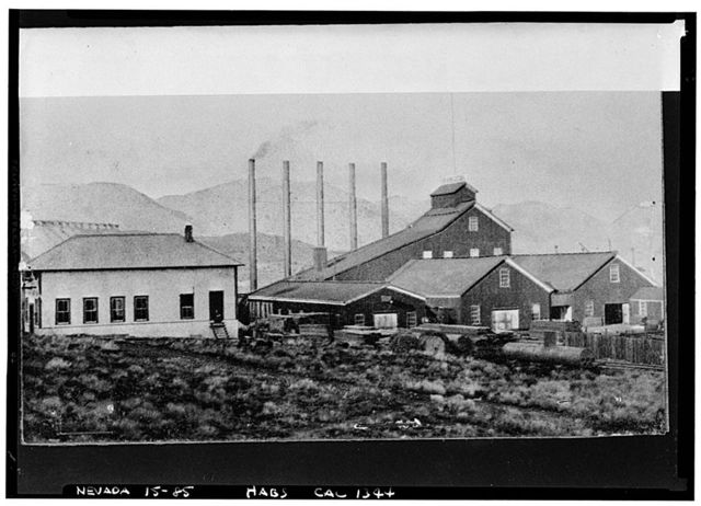 Shaft House, Consolidated California & Virginia Mine, Virginia City, Storey County, NV