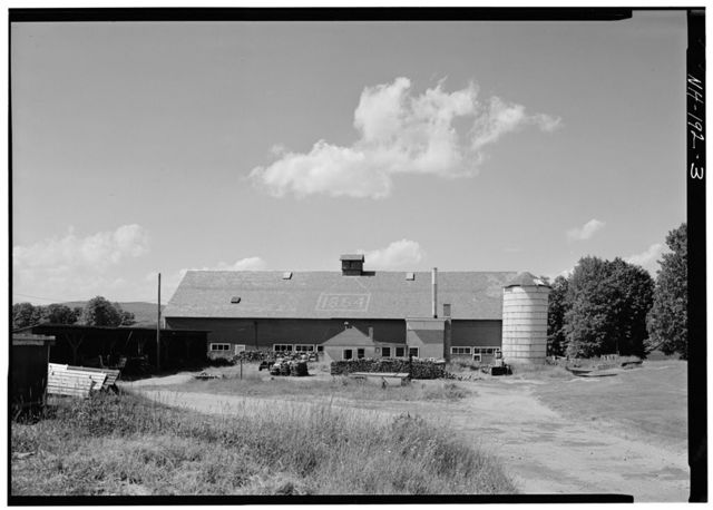 Shaker Church Family Cow Barn, State Route 4A, Enfield, Grafton County, NH