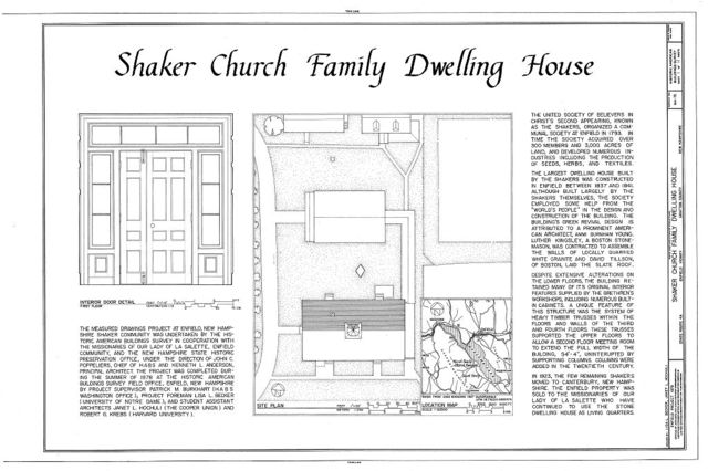 Shaker Church Family Dwelling House, State Route 4A, Enfield, Grafton County, NH