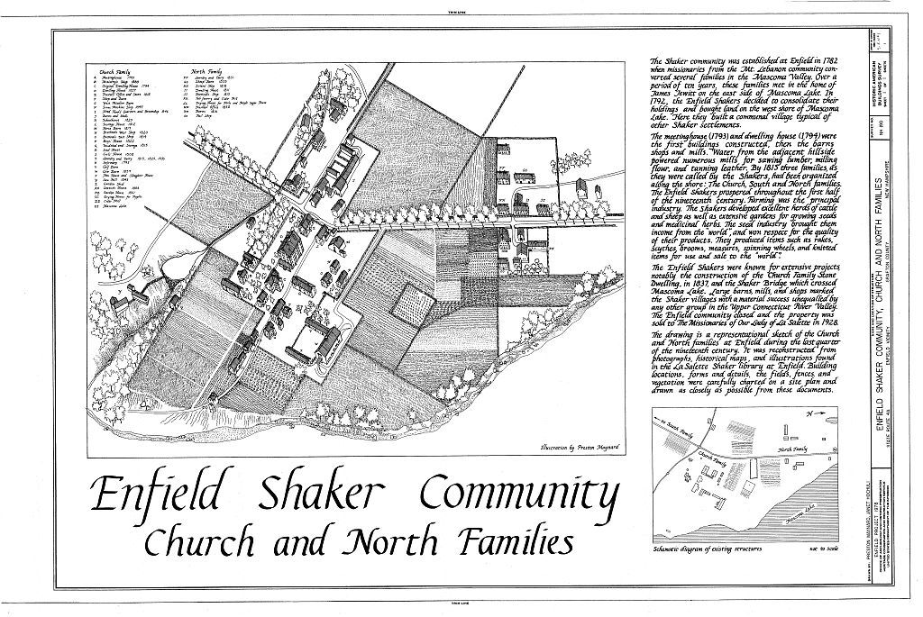 Shaker Church Family General Views, State Route 4A, Enfield, Grafton County, NH