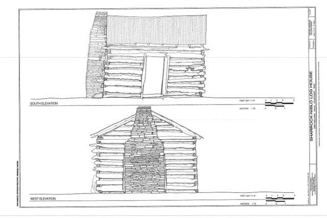 Sharrock-Niblo Farm, Log House, Grady Niblo Road, Dallas, Dallas County, TX