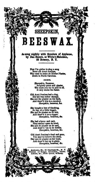 Sheepskin, beeswax. J. Andrews, Printer, 38 Chatham Street, N. Y