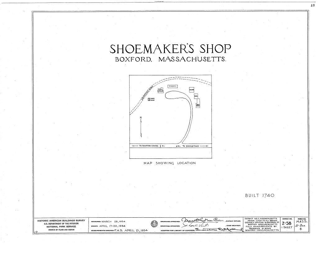 Shoemaker's Shop, Georgetown Road, Boxford, Essex County, MA