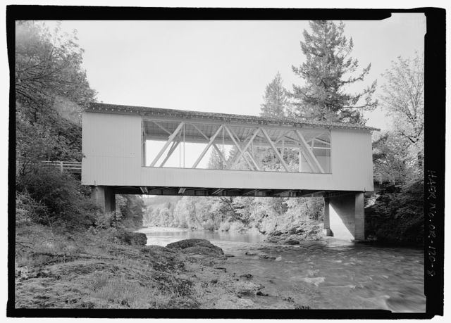 Short Bridge, Spanning South Santiam River at High Deck Road, Cascadia, Linn County, OR