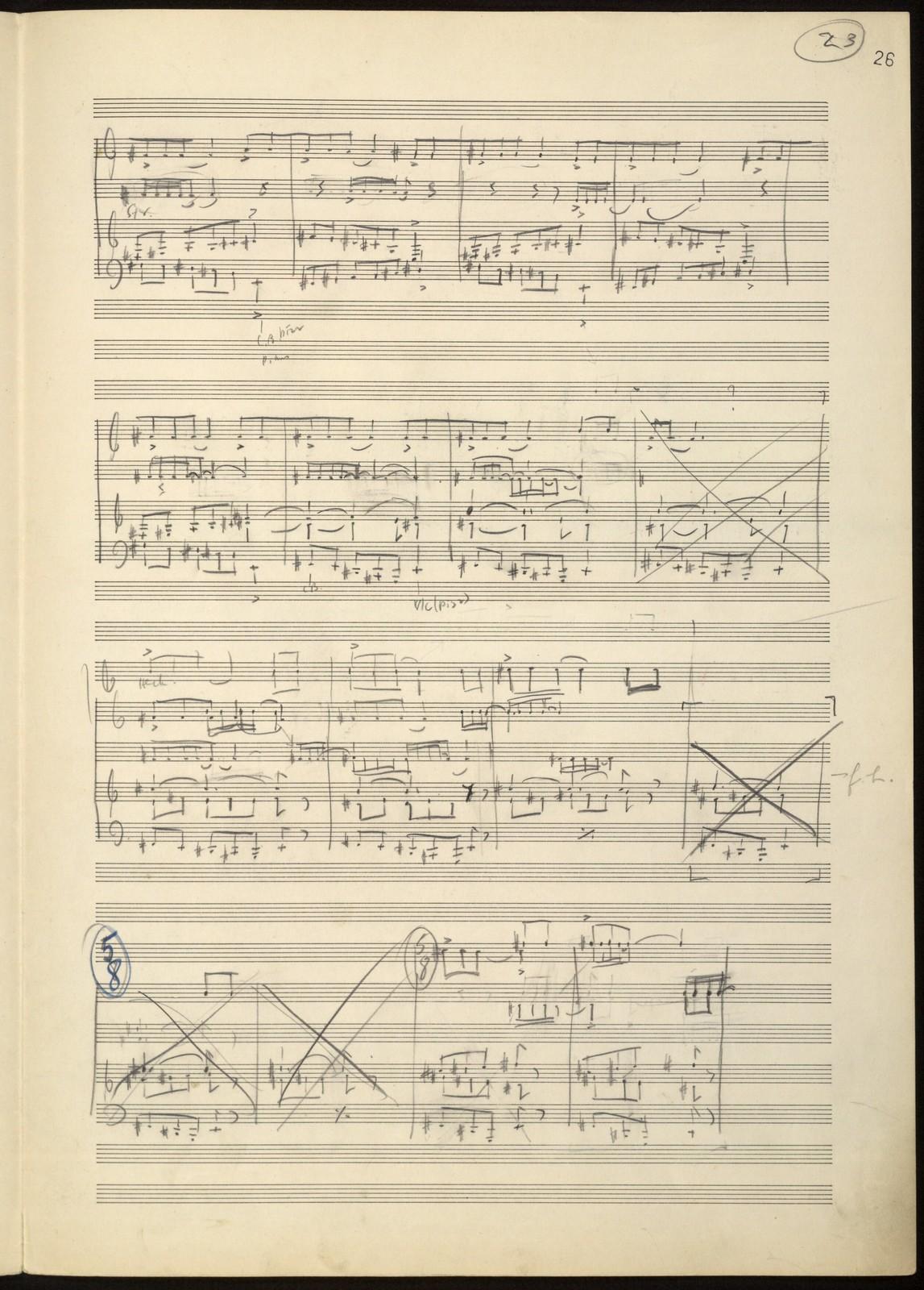Short symphony [piano sketch]
