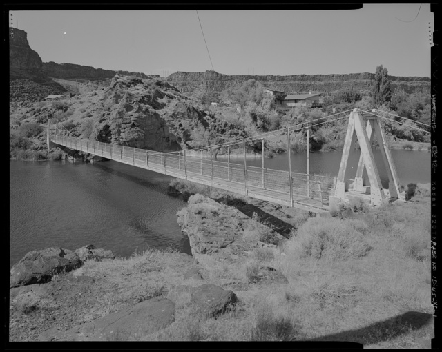 Shoshone Falls Hydroelectric Project, Footbridge, Above Shoshone Falls, immediately northeast of Dam No. 3, Tipperary Corner, Jerome County, ID