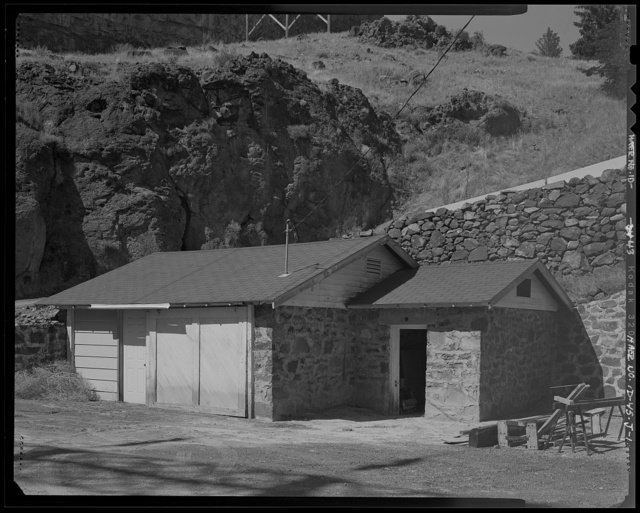 Shoshone Falls Hydroelectric Project, Garage & Celler, North Bank of Snake River, immediately North of the Cliff Substation, Tipperary Corner, Jerome County, ID