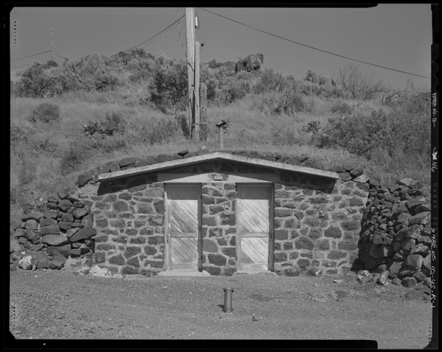 Shoshone Falls Hydroelectric Project, Stone Cellar, North Bank of Snake River, east of Cliff Substation, Tipperary Corner, Jerome County, ID