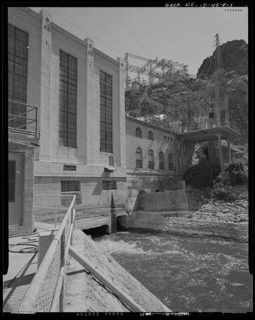 Shoshone Falls Hydroelectric Project, Tailrace, North Bank of Snake River, South side of powerhouse complex, Tipperary Corner, Jerome County, ID