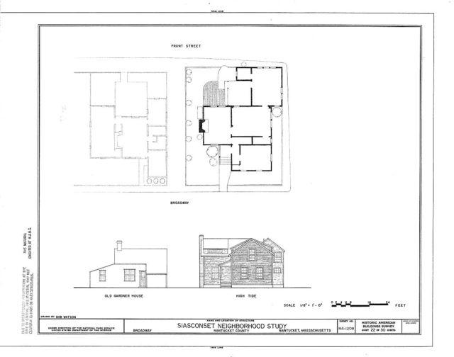 Siasconset Neighborhood Study, Broadway, Shell, New, Center & Front Streets & Pump Square, Nantucket, Nantucket County, MA