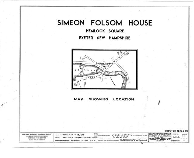 Simeon Folsom House & Stores, Pleasant & High Streets, Exeter, Rockingham County, NH
