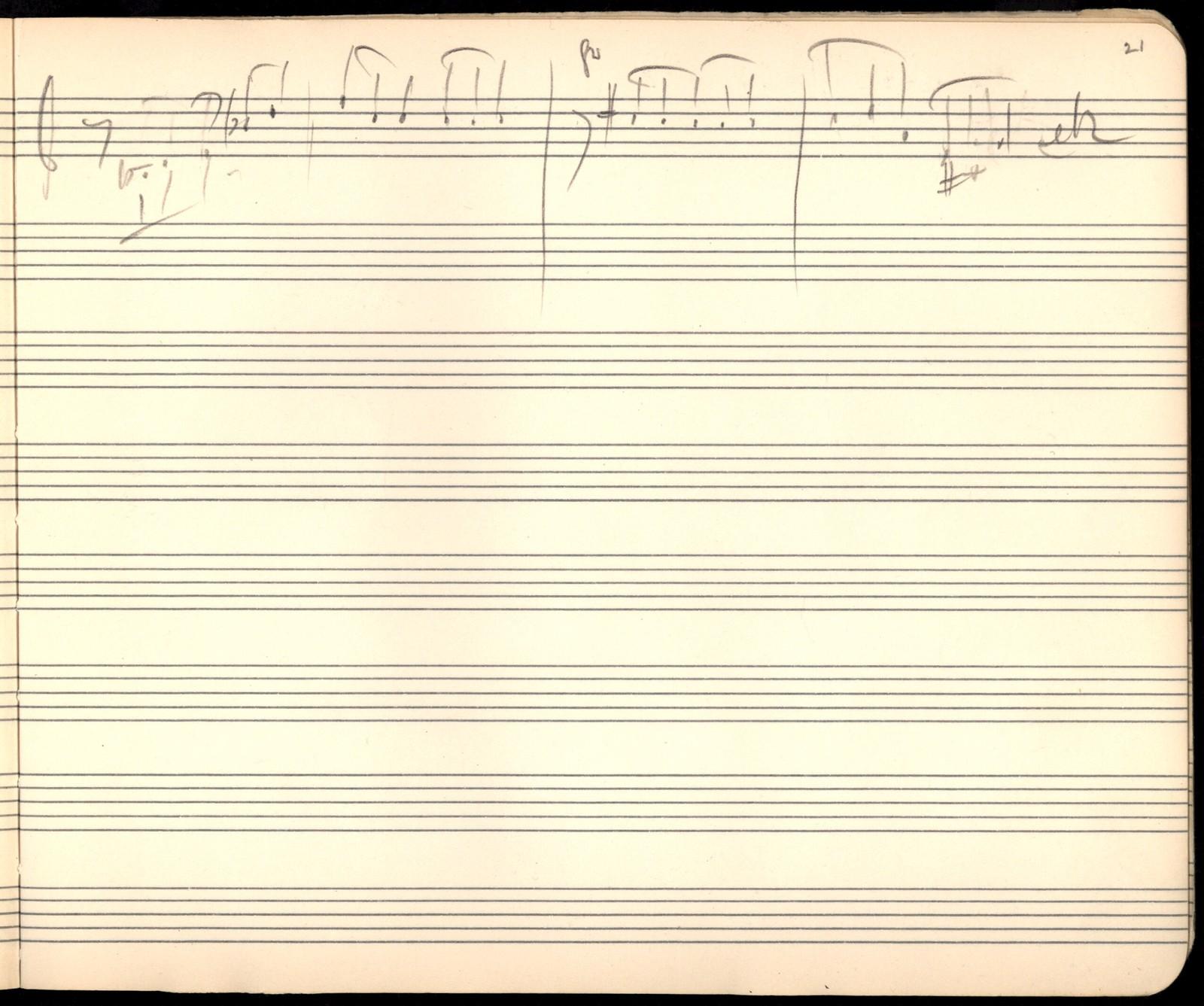 Sketchbook 5 [sketches for woodwind partita and string quartet, pencil]