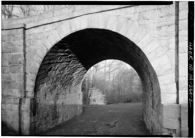 Skew Arch Bridge, Spanning Incline No. 6 at Old U.S. 22 on east slope of Allegheny Mountain, Cresson, Cambria County, PA