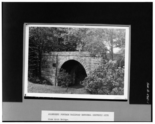 Skew Arch Bridge, Spanning Incline No. 6 at U.S. Route 22 (Old), Cresson, Cambria County, PA