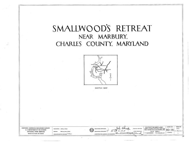 Smallwood's Retreat, State Routes 224 & 484, Marbury, Charles County, MD
