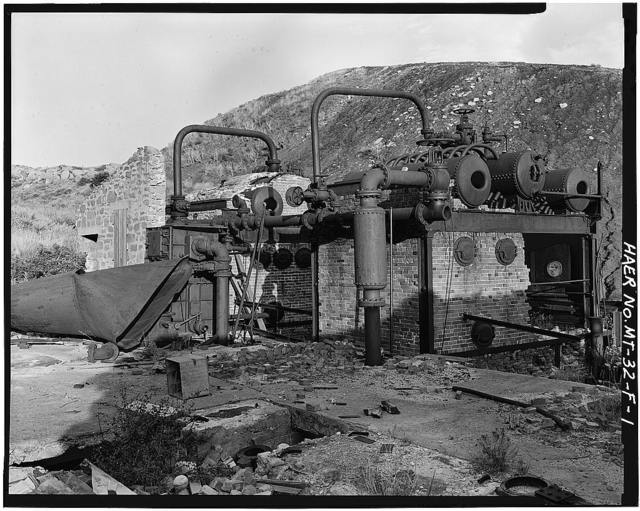 Smith Mine, Boilers (ruins), Bear Creek 1.5 miles West of Town of Bear Creek, Red Lodge, Carbon County, MT