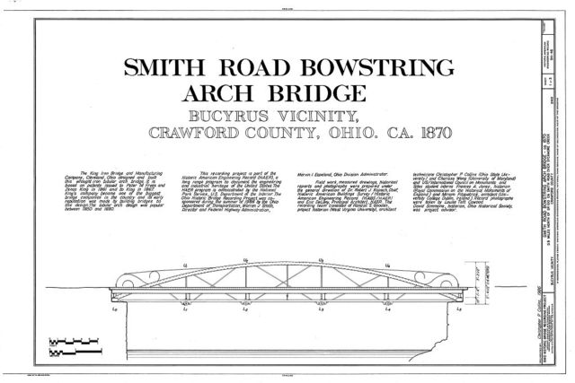 Smith Road Bowstring Arch Bridge, Spanning Sycamore Creek at Smith Road (TR 62), Lykens, Crawford County, OH