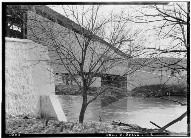 Smith's Covered Bridge, Beaver Valley, spanning Brandywine River, Granogue, New Castle County, DE