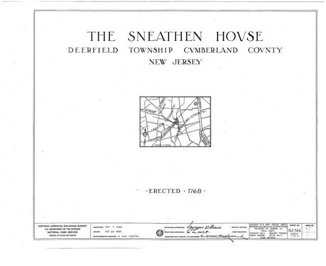 Sneathen House, Deerfield Street, Deerfield, Cumberland County, NJ