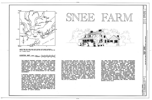 Snee Farm, 1240 Long Point Road, Mount Pleasant, Charleston County, SC