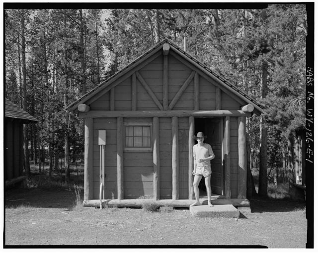Snowlodge, Tourist Cabin Type D No. 431, 560' south of Snowlodge, West Thumb, Teton County, WY