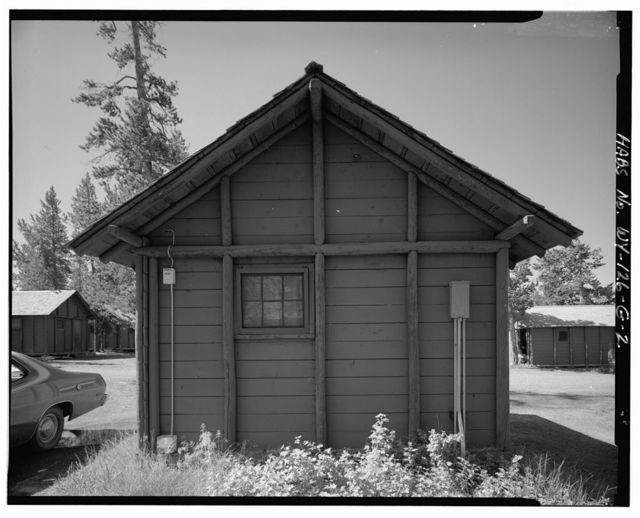 Snowlodge, Tourist Cabin Type E No. 222, 260' southwest of Snowlodge, West Thumb, Teton County, WY