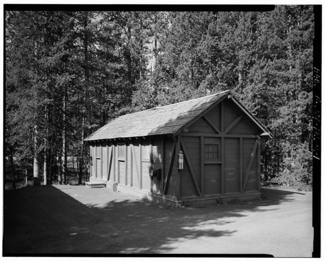 Snowlodge, Tourist Cabin Type No. 729, 700' southeast of Snowlodge, West Thumb, Teton County, WY