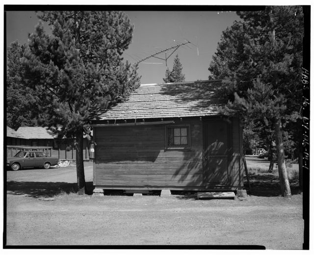 Snowlodge, Tourist Cabin Type O No. 419A, 480' southwest of Snowlodge, West Thumb, Teton County, WY