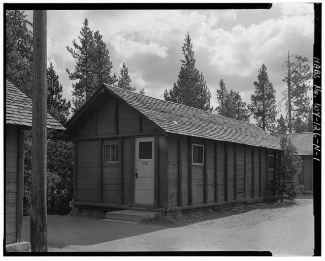 Snowlodge, Tourist Cabin Type P No. 239-240, 400' southwest of Snowlodge, West Thumb, Teton County, WY