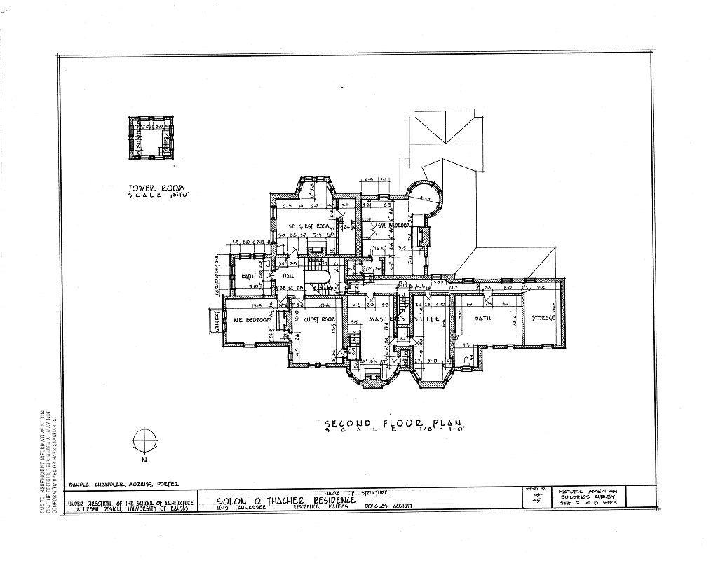 Solon O. Thacher House, 1613 Tennessee Avenue, Lawrence, Douglas County, KS