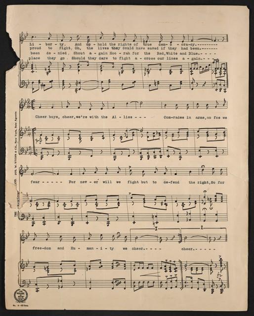 Song of the war comrades at arms