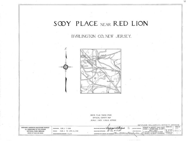 Sooy Place, Red Lion, Burlington County, NJ