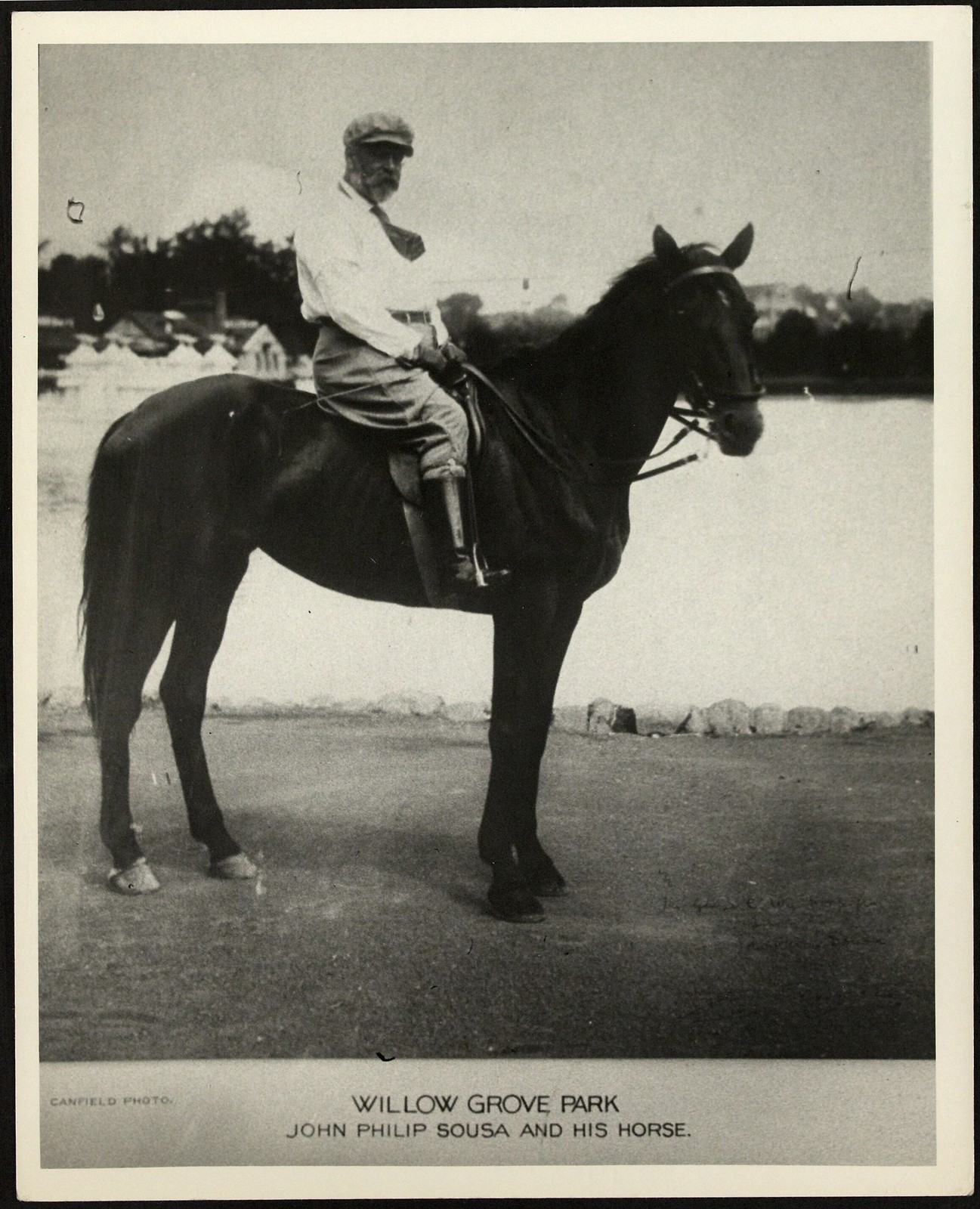 Sousa at Willow Grove Park on horse