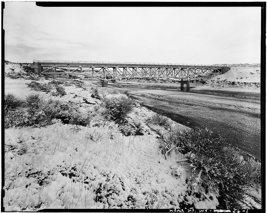 South Fork Powder River Bridge, On West Service Road of I-25, Kaycee, Johnson County, WY