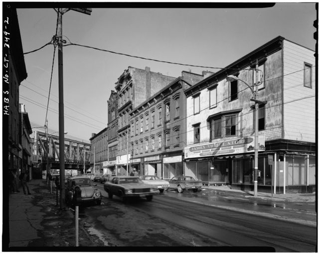 South Main Street, Block 43 (Commercial Buildings), South Main & Washington Streets, South Norwalk, Fairfield County, CT