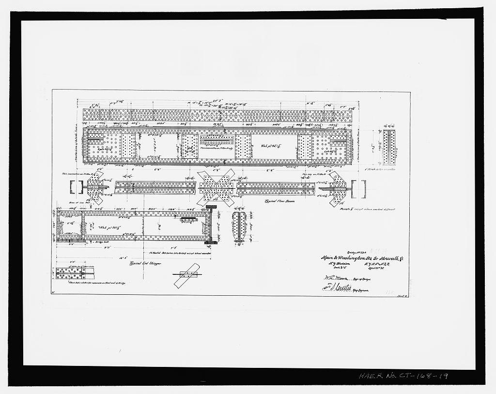 South Norwalk Railroad Bridge, South Main & Washington Streets, Norwalk, Fairfield County, CT
